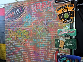 Hop City's graffiti wall