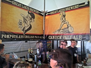 Great Lakes Brewery offers some Pompous Ass beer